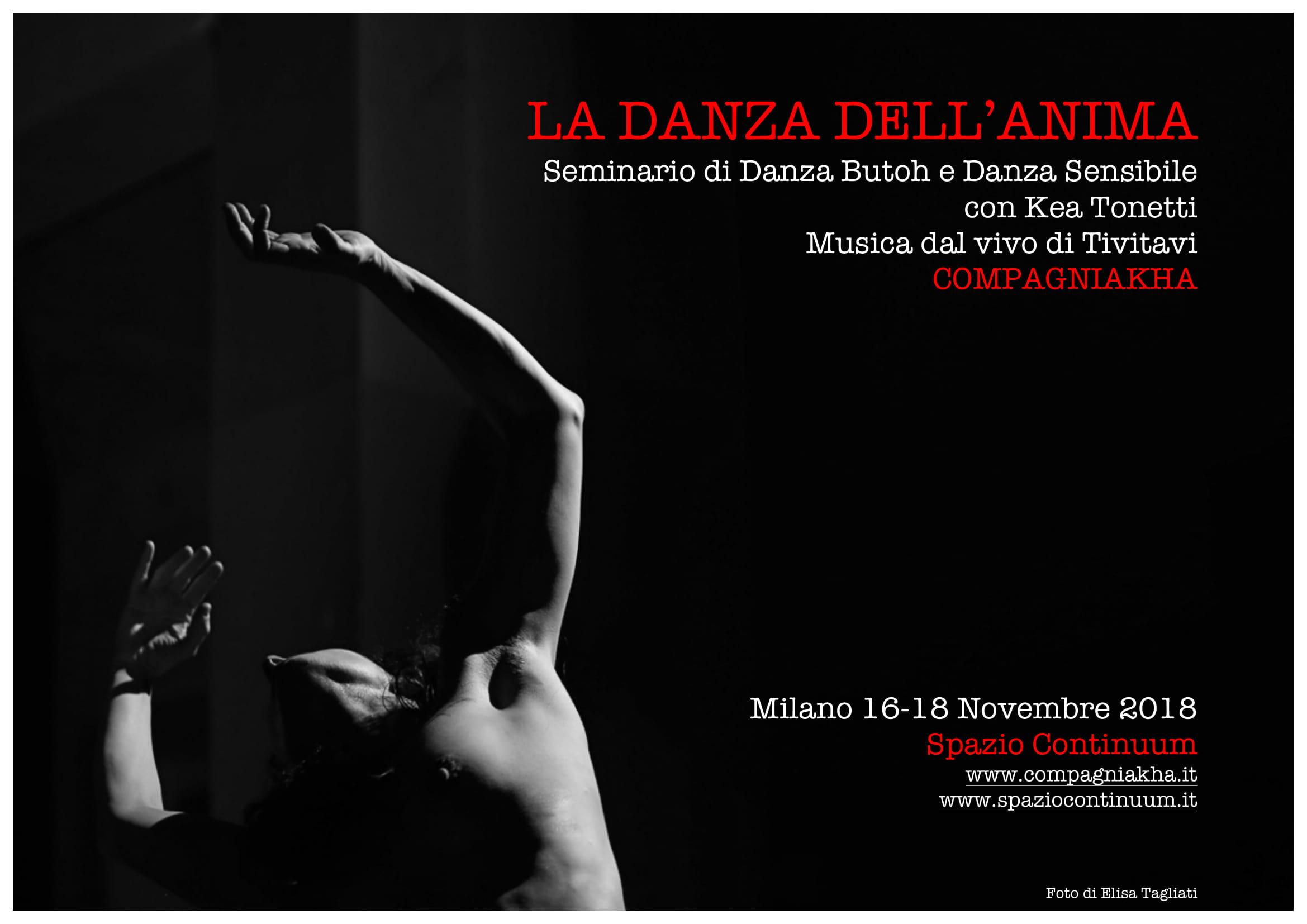LA DANZA DELL'ANIMA seminario di Danza Butoh e Danza Sensibile – Milano
